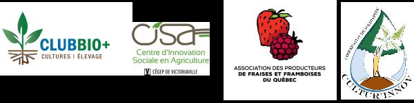 Partenaires du colloque: Club Bio+, CISA, APFFQ et Cultur'Innov