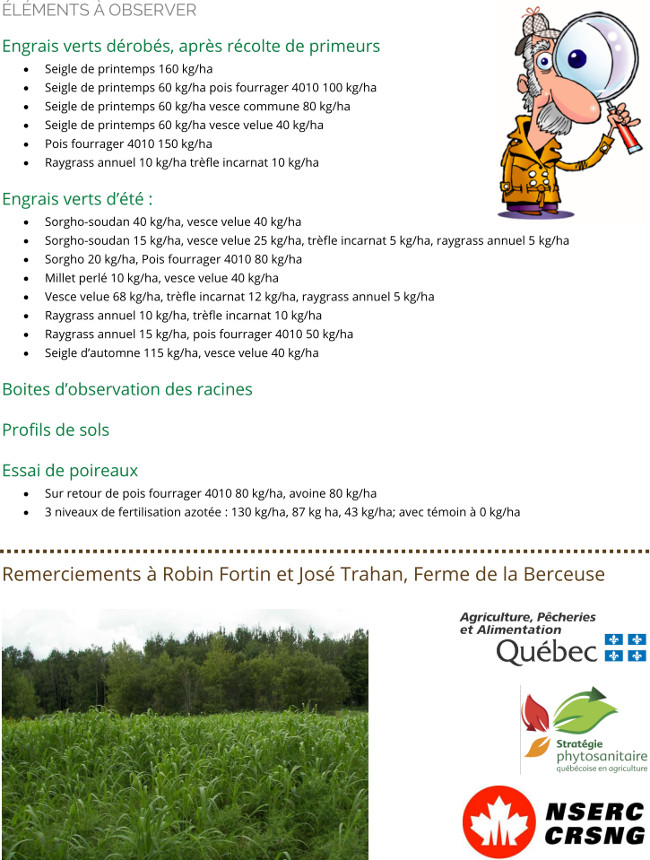 D monstration les meilleurs choix d 39 engrais verts pour l 39 azote et pour la structure 9 octobre - Engrais vert d automne ...