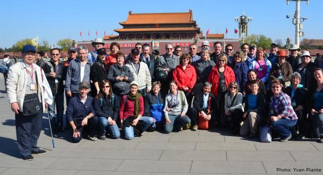 Photo du groupe qui a visité la Chine en 2012. Crédit: Yvan Plante